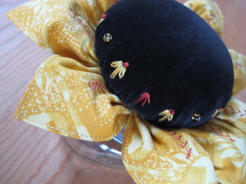 Sunflower pin cushion from Tiffany