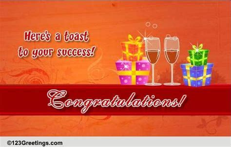 A Toast To Congratulate! Free For Everyone eCards