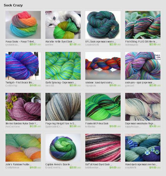Sock Yarn Fever
