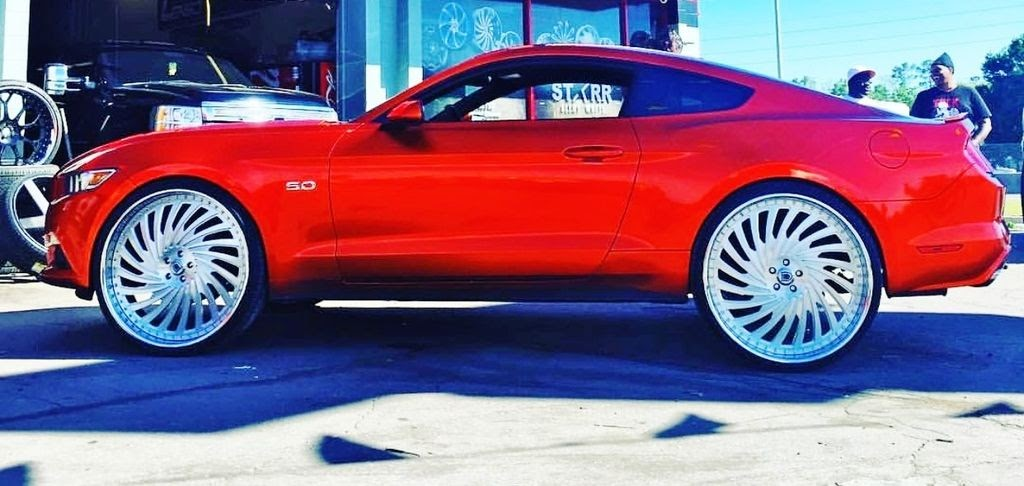 Ford Fusion Black Rims >> Ace-1: Candy Orange 2016 Ford Mustang 5.0 GT on Exclusive ...