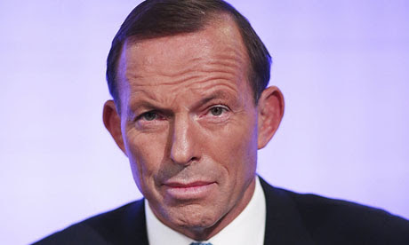 Australia's opposition leader Tony Abbott