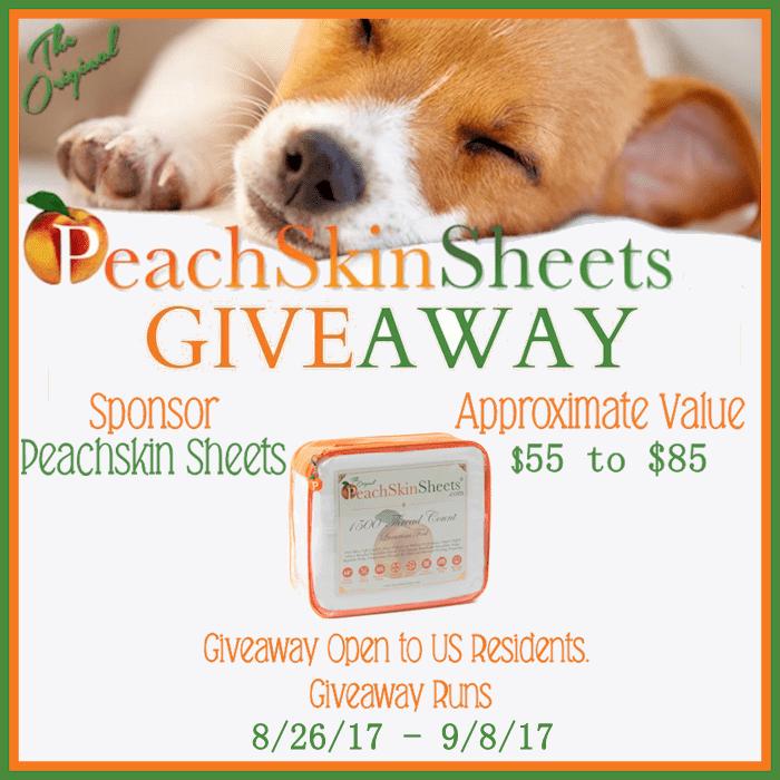peachskin sheets giveaway