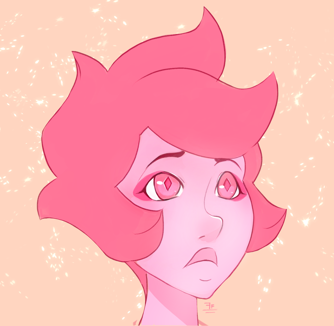 Thought i posted this here. Have some Pink Diamond concepts! I would draw her looking mature looking and decided to try drawing her more younger looking. Seeing as i see her as the baby in the...