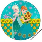 Rótulo Tubetes, Toppers e Latinhas Frozen Fever Cute