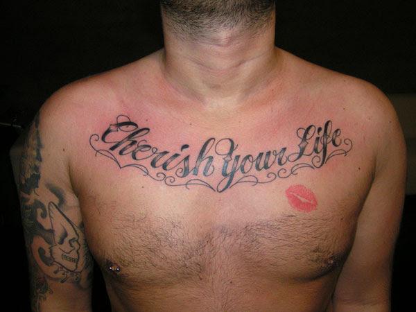 Lip Print Tattoo On Chestdenenasvalencia