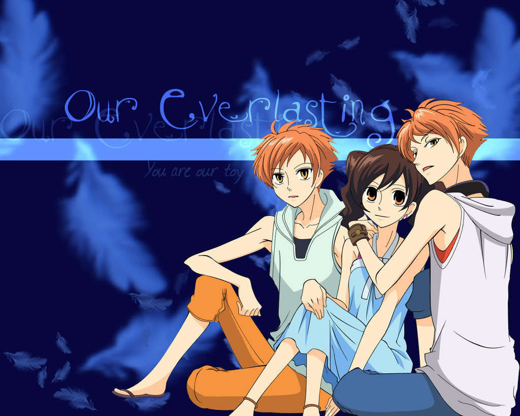 Twins And Haruhi Wallpaper Ouran High School Host Club Photo