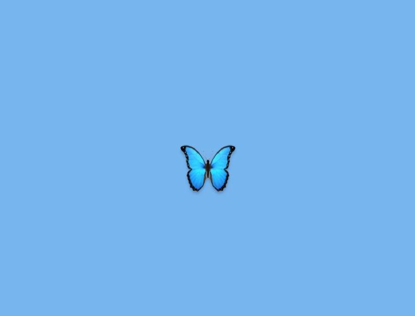 Aesthetic Blue Butterfly Wallpaper Desktop - Download Free ...