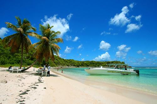green island blue sky