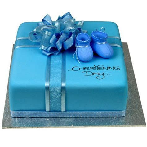Little Booties Cake (Blue)   Square