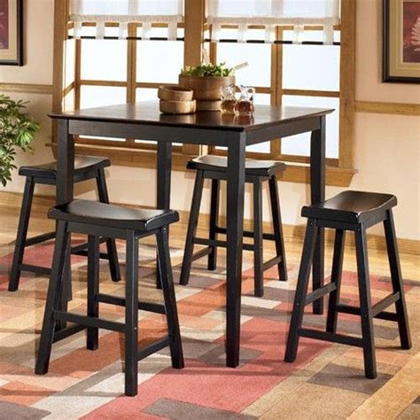 conrad square counter height table  backless bar stools