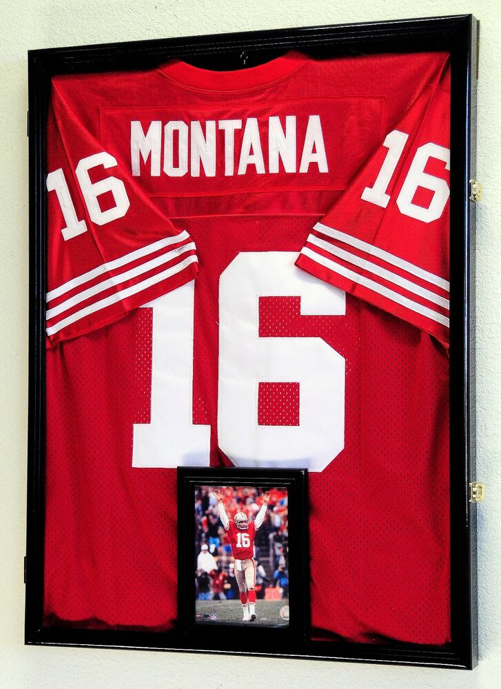 NFL Football Jersey Display Case Frame Wall Box Cabinet + FREE 5x7 Picture Frame  eBay