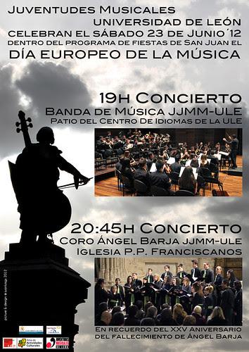 JUVENTUDES MUSICALES-UNIVERSIDAD DE LEÓN CELEBRA EL SÁBADO 23 DE JUNIO´12 EL DÍA EUROPEO DE LA MÚSICA by juanluisgx