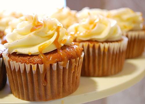Caramel Pear & Ginger Cupcakes