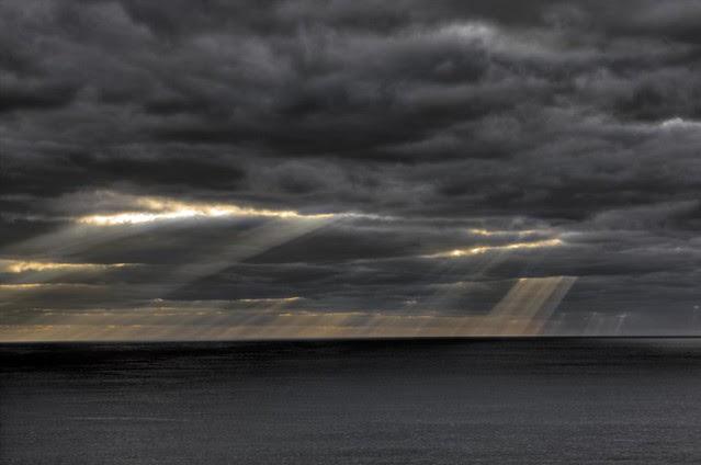 Cloudy dawn off Grand Cayman Island