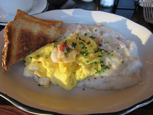 Lobster Scramble with Bacon Grits
