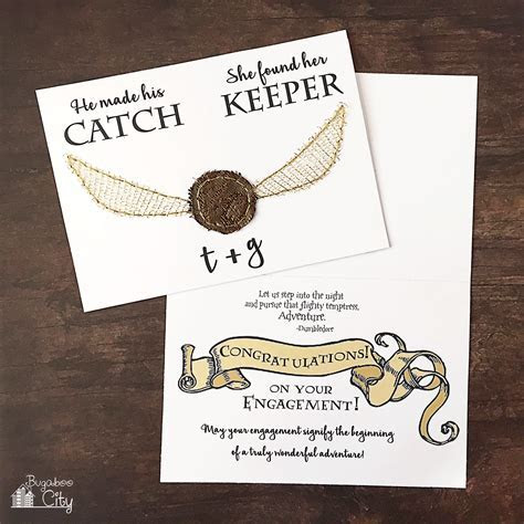 Harry Potter DIY Engagement and Wedding Card   BugabooCity
