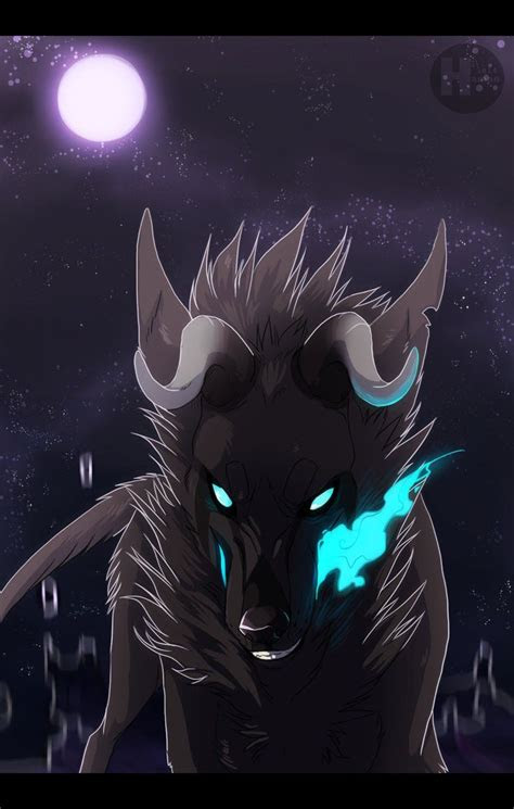 creepy wolves anime images  pinterest wolves