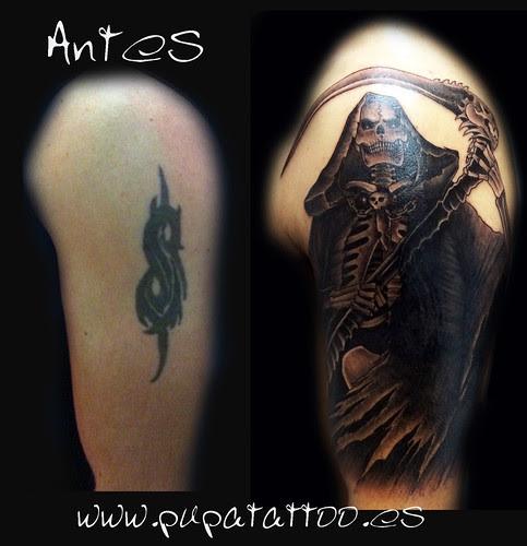 Tatuaje Santa Muerte Pupa Tattoo Granada A Photo On Flickriver