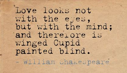 Love Is Blind It Will Take Over Your Mind Love Quote