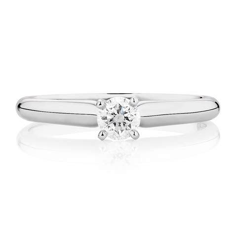 Solitaire Engagement Ring with a 1/4 Carat Diamond in 14kt