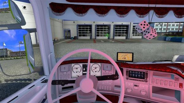 Red And White Interior For 50k Scania Ets2planet Com