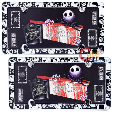 Nightmare Before Christmas Jack License Plate Frame 2pc Set