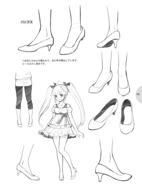 draw feet  shoes tutorial anime style
