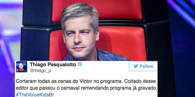 Resultado de imagem para Victor pede para se afastar de 'The Voice Kids' após denúncia de agressão a mulher