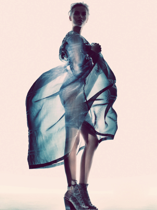 LE FASHION BLOG EDITORIALS SPRING SUMMER SHEER TREND ELLE SWEDEN DRIES VAN NOTEN SHEER PLAID PRINT DRESS TRANSPARENT ACETATE EMBELLISHED ANKLE BOOTS BOOTIES Varljus Moa Aberg By Andreas Sjoden Elle Sweden Summer 2013 Stylist Styled by Lisa Lindqwister Hair Rudi Lewis Makeup Ignacio Alonso 2