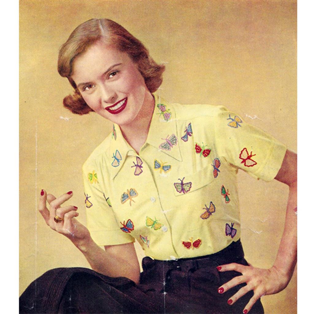 Vintage Crochet Butterfly Applique Patterns