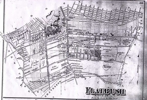 Map of Flatbush, Brooklyn, 1873