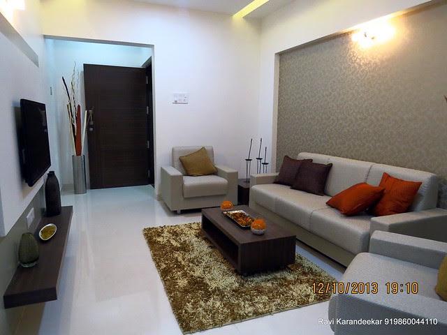 Living - Visit 2 BHK Show Flat of Venkatesh Lake Life Phase 1 - 1 BHK 2 BHK Flats Shops - Dattanagar Jambhulwadi Road Ambegaon Khurd Pune