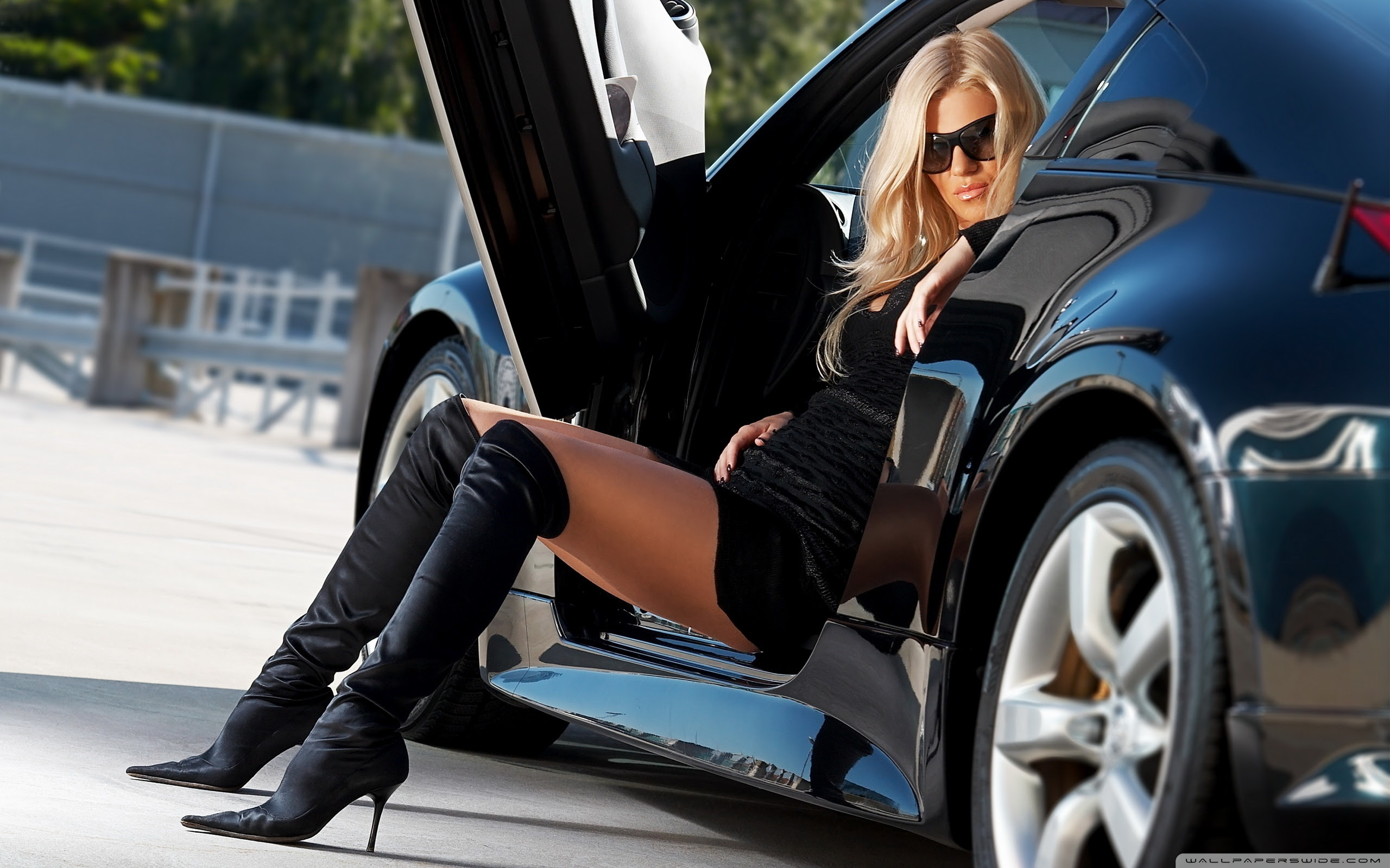 Sexy Girl And Car Ultra Hd Desktop Background Wallpaper For