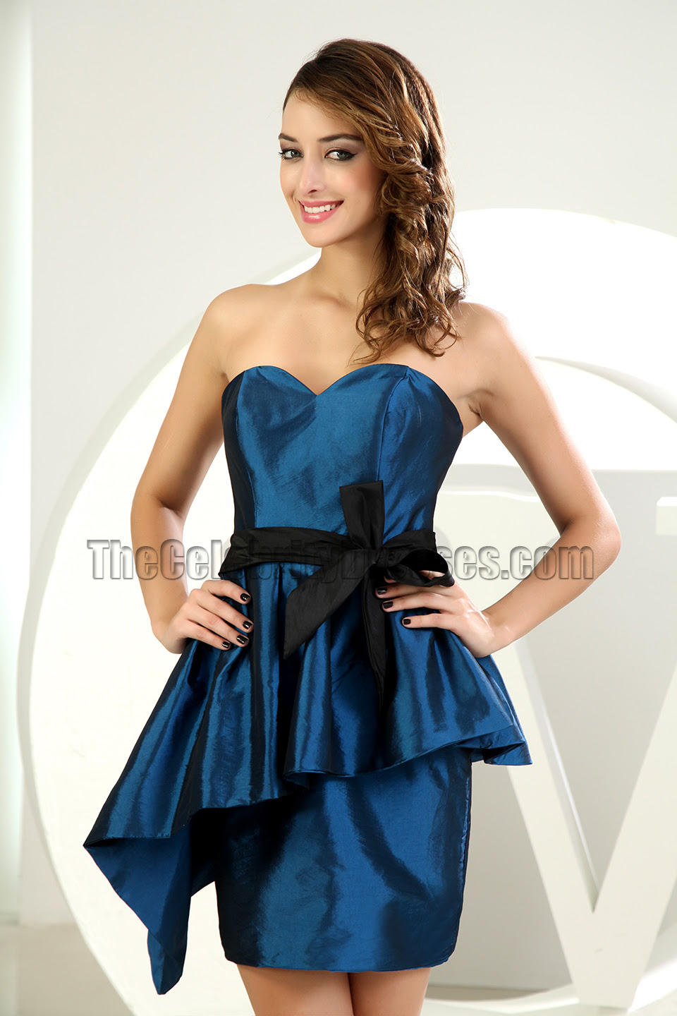 new style short mini strapless cocktail dress party