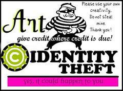 Art Identity Theft Badge