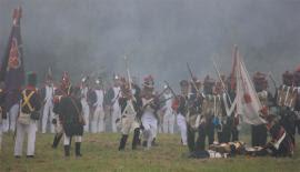 Recreación de la batalla