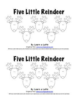 Five Little Reindeer - Christmas Emergent Reader for Students