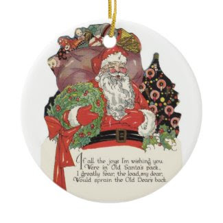 Santa and His Sack of Toys ornament