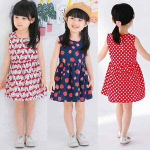 flower girl summer casual dress kids baby party pageant