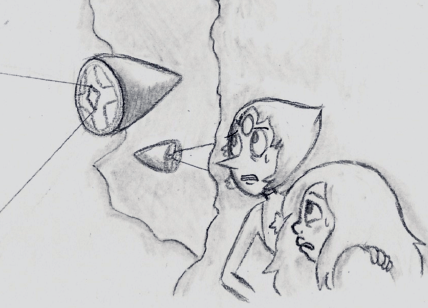 Day 2 -  On Homeworld Together     Want to participate in Pearlmethyst Week? Go HERE!   Amethyst is a lot like Steven. She's never been to Homeworld, doesn't really know how to get around… Pearl would watch her back, though. ;)