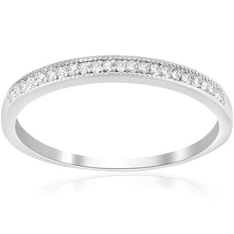 1/8ct Diamond Wedding Stackable Womens Anniversary