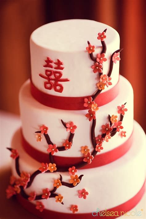 cherry blossom wedding cake by Peridot Sweets Possibly