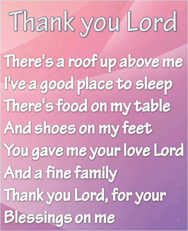 Thank You Lordfor Your Blessings On Me Faith Quote