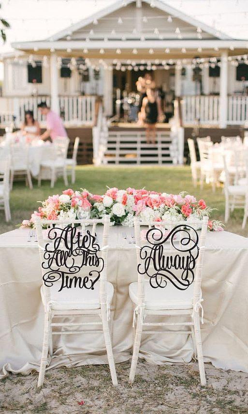Kalligraphie-Hochzeit Stuhl Anzeichen für einen Harry-Potter-Hochzeit