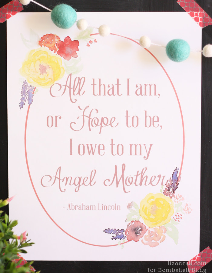 Angel Mother Abraham Lincoln Quote Printable