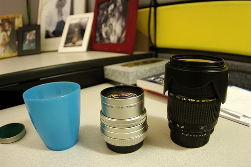 Ikea plastic cup for limited lens protection
