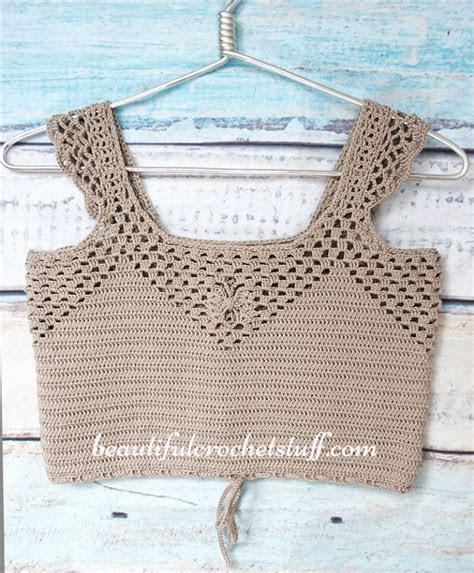Crochet Patterns Galore   Crochet Crop Top Free Pattern