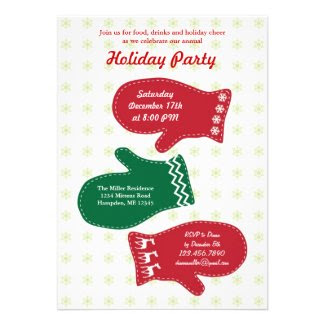 Mittens Holiday Party Invitation