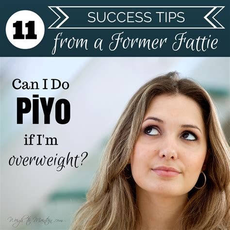 piyo  im overweight  success tips
