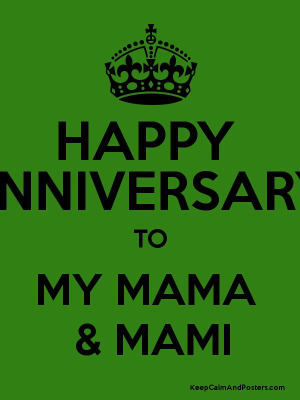 Happy Anniversary To My Mama Mami Keep Calm And Posters